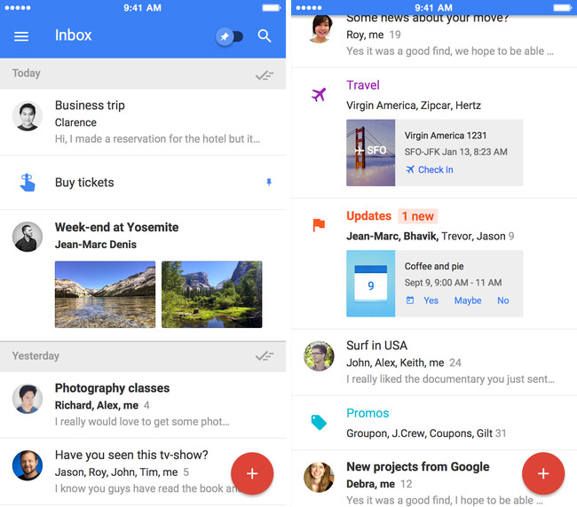 New mail Inbox by Gmail for iOS is now available for everyone