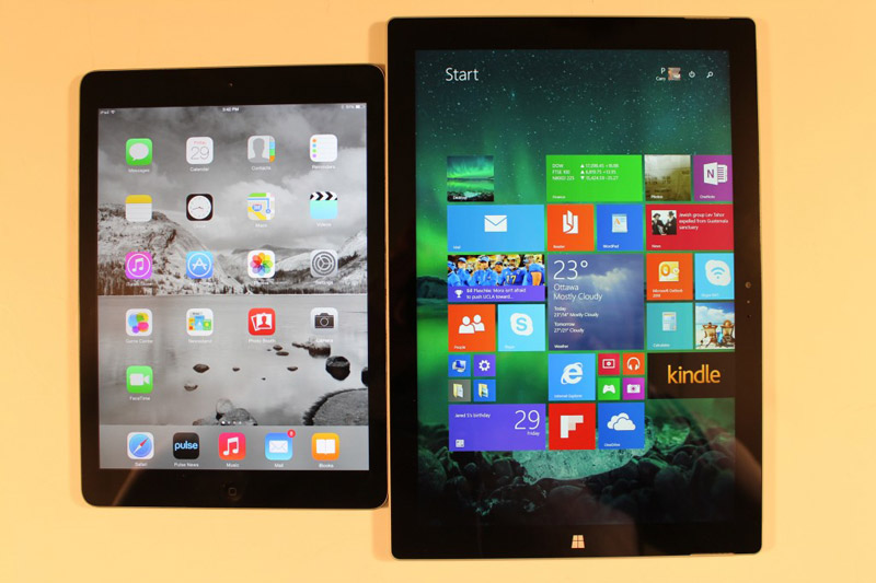 Surface Pro 3 ahead of iPad Air 2 in the test for performance
