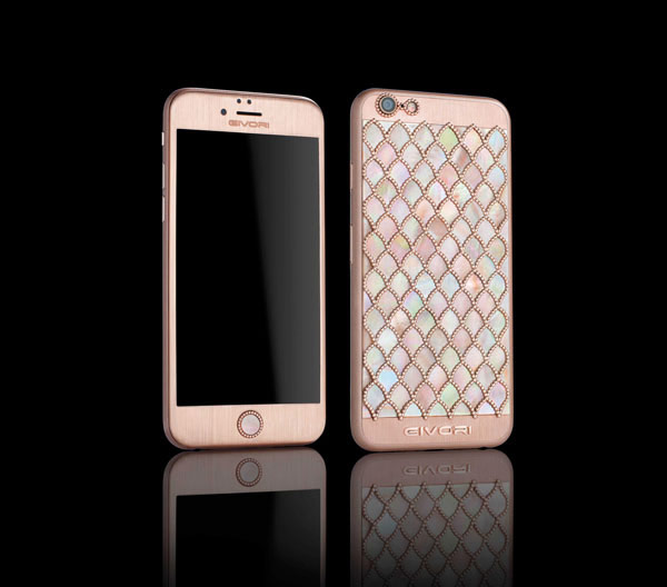 iphone 1000. in dubai introduced iphone 6s, encrusted with 1000 diamonds iphone