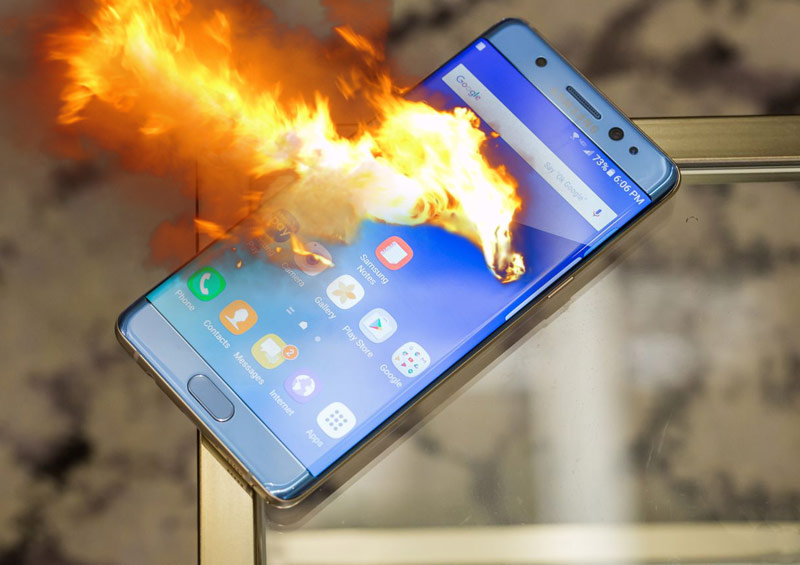 Image result for samsung note 7 explosion