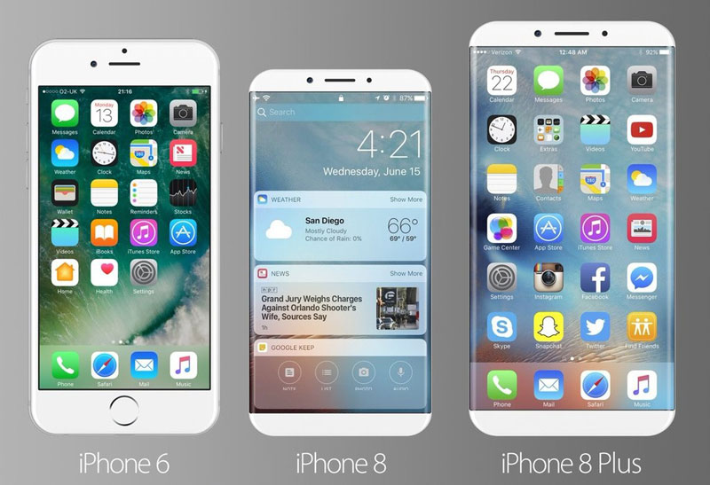 Concept IPhone 8 With Display Edge To Shows Future Of Apples Smartphone