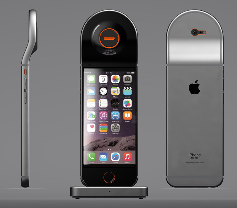designer home phones. German designer crossed an iPhone with a home phone  gallery