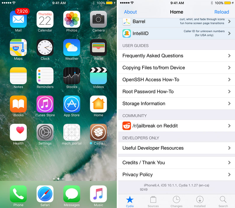 How to restore Cydia Substrate after jailbreaking iOS 10