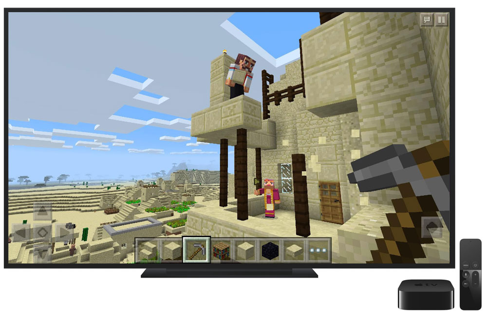 Minecraft comes out on Apple TV today for the price of 1500 rubles