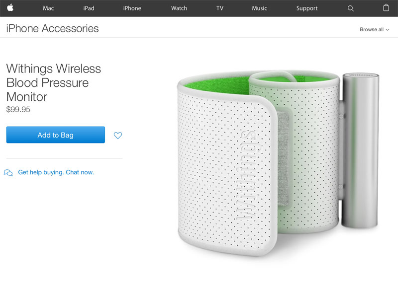 Apple has removed from its online store all the products of the company Withings, bought Nokia earlier in the year