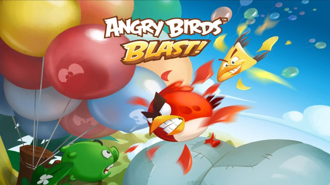 Angry Birds Blast birds in a row