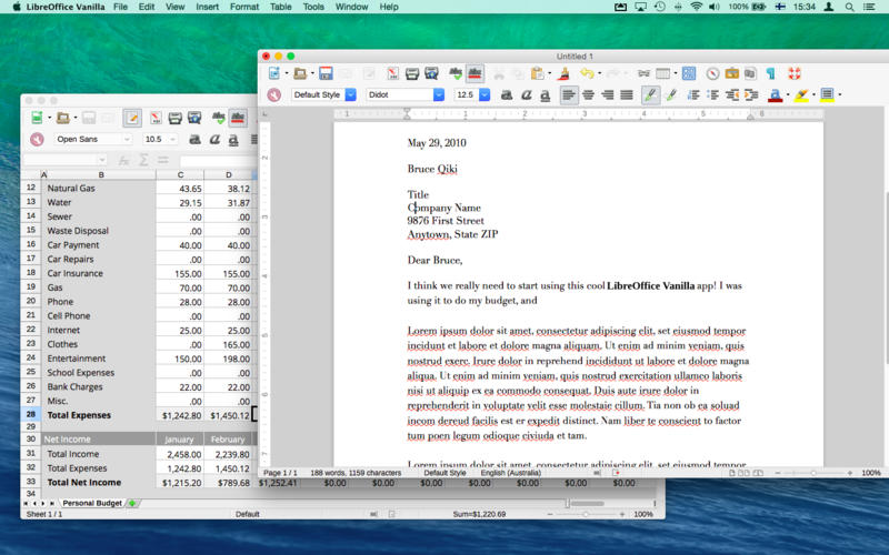 Libreoffice for mac download.