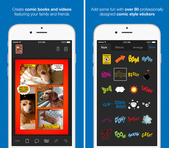 Editor Halftone 2 comic book was a free app of the week in the App Store