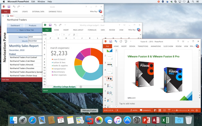 VMware has released Fusion 8 with support for Windows 10 and