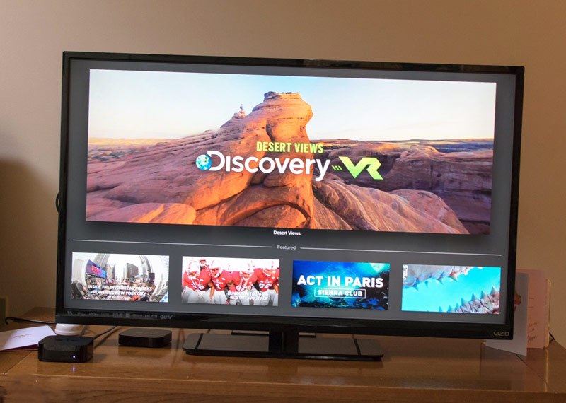 The new Apple TV appeared panoramic video