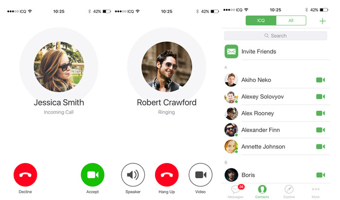 Mail ru announced a new version of ICQ for iOS fast video calls and