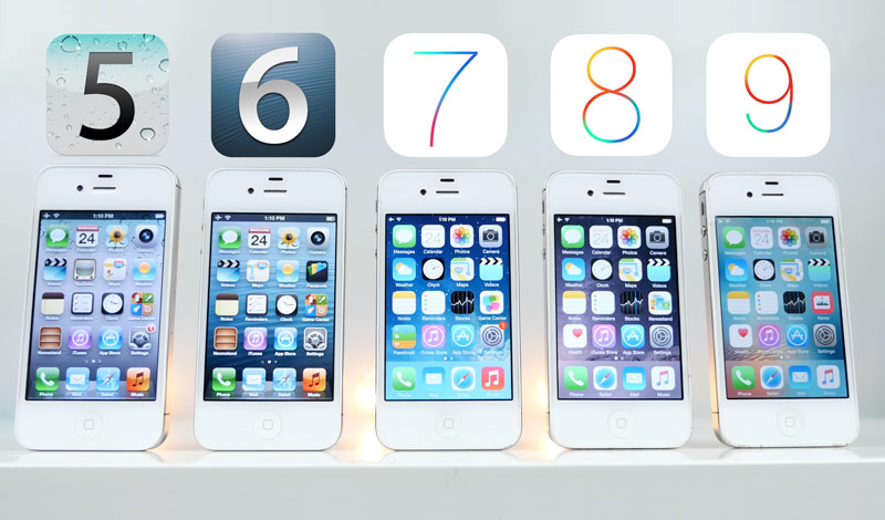 The Blogger Compared Speed Of Five Generations IOS On IPhone 4s Video