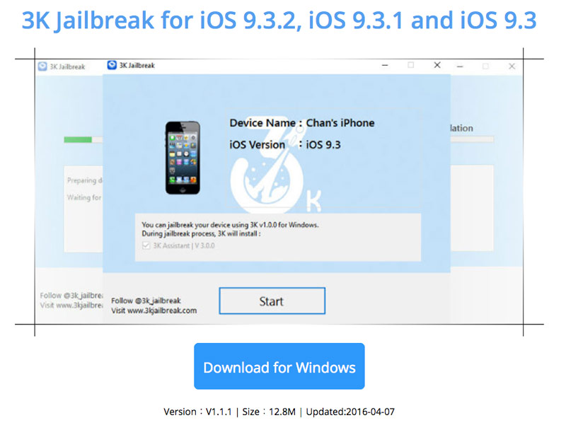 Jailbreak for iOS 9 3 1 and 9 3 2 from 3K iOS Jailbreak can be