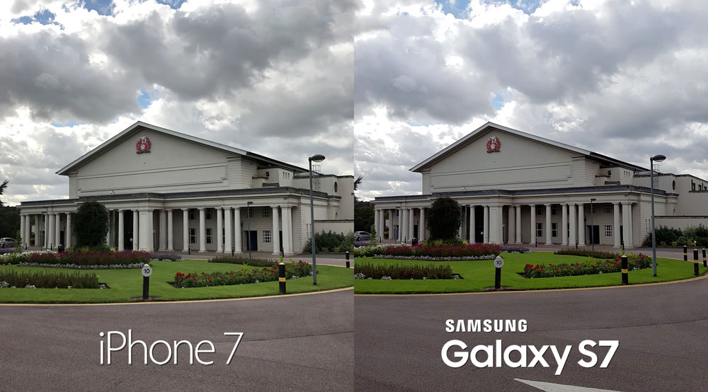 Iphone 7 Vs Samsung Galaxy S7 Comparison Of The Quality Of The Shot