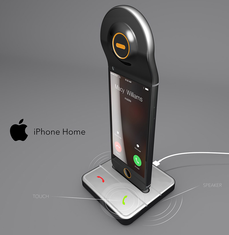 German designer crossed an iPhone with a home phone gallery