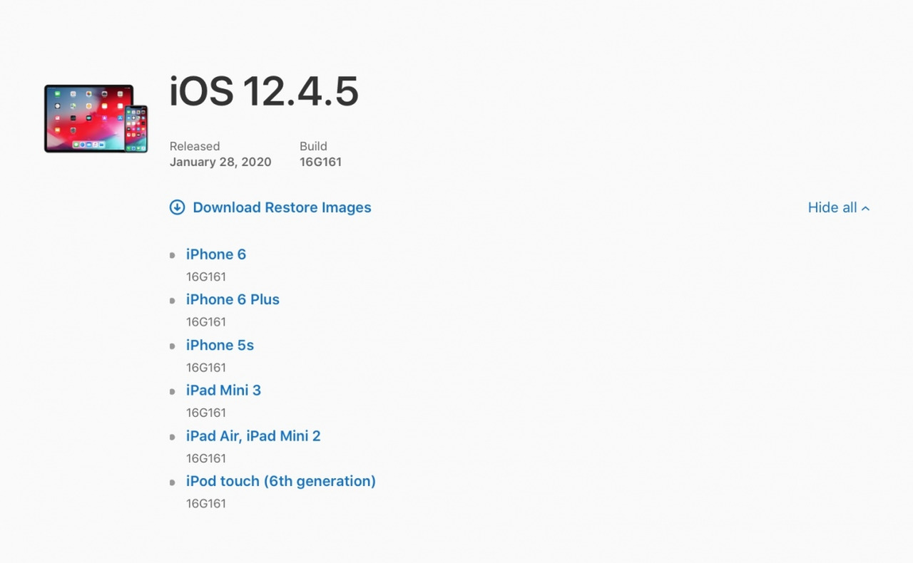 Apple has updated old iPhones to iOS 12.4.5